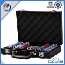 Good Quality Casino Custom 200pcs PU Leather Case For Aluminum Poker Chip Case