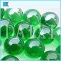 claro decorativos de vidrio verde bola