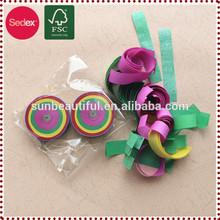 Colored biodegradable tissue paper confetti wedding party popper
