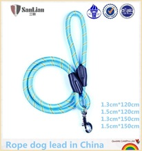 Bright blue hotsale rope dog lead wholesale in China