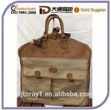 Personalised Tan Leather Garment Bag Travel