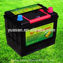 Hot Sale Yuasan Producing JIS 12V Battery Korea Technology 55D23L MF Car Battery 12V(60AH)