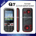 Bas de gamme Dual SIM Q7 téléphone Mobile avec double caméras analo TV bluetooth de la chine