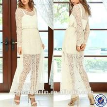 china supplier online shopping elegant lace evening dress long, white long dress long sleeve lace maxi dresses 2015