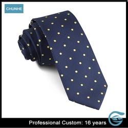 Hot Sell Latest Design Yellow Dots fashion men tie