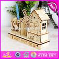 Baratos 2015 artesanía de madera para niños, de madera caja de música con titular de la pluma, de alta calidad cajas de madera artesanales para la decoración w02a033