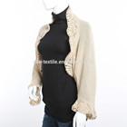 100% cashmere ladies' crochet coat
