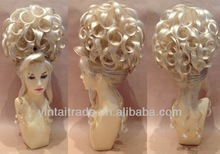 Hot sale party Huge Deluxe Drag Queen Updo Wig Blonde & Curly,synthetic wig