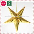 ouro estrela de papel pendurado decoração de natal para supermercados