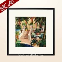 Beautiful garden scenery oil painting