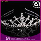 crystal full round crown tiara large bridal rhinestone tall crown pageant tiara