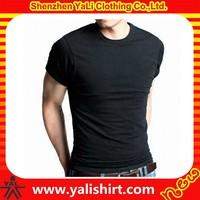 wholesale customized blank soft slim fit short sleevess 95 cotton /5 elastane t-shirt