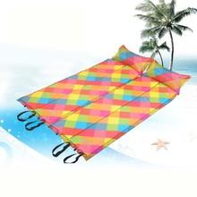 Easy Deflate Foldable Sleeping Mat Joinable Inflatable Lilo