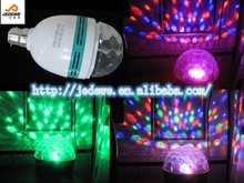 NEW E27 Led Party Lamp 3W Colorful Stage bulb For Magic Rotating Crystal Light Auto Dj Disco Ball Lighting