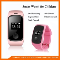 GPS watch tracker for kid with remote positioning,PC/Mobile phone/SMS tracking,SOS,geo-fence,low battery alarm