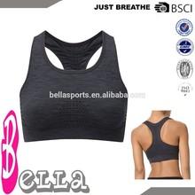 basic style OEM nylon/spandex comfortable women seamless sports bra