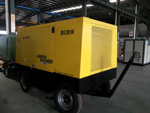 Portable pot screw air compressor for sandblasting