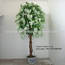 Q012709 silk bonsai tree artificial wisteria flower tree wedding table tree centerpieces