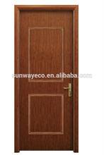 Plastic Door Material and Swing Open Style upvc panel door