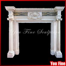 Freestanding Indoor Fireplace Surround Stone Fireplace Mantels Column Fireplace / Fireplace Mantel