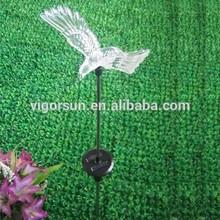 multi color Christmas ornaments Solar Stick Light with hawk
