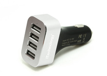 NEW Product 9.6A Rapid 4 Port Car Charger With Smart Technology Intelligent Car Charger For iPhone6 5 5s 5c/Samsung/Tablet