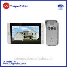 800*480 resolution 7 inch video doorbell intercom TFT LCD screen with video recording