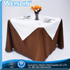100% Bamboo Fiber made in China embroidered square silver dots table cloth