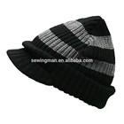 Skiing Hat Acrylic Striped Plain knit Beanies Hat Cap