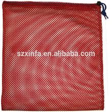 Cheap customized Logo Branded Promotional foldable nylon mesh drawstring bags