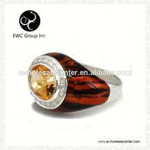 semi precious zircon with silver rings wholesale