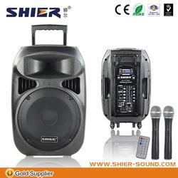 Portable plastic power acoustic subwoofers