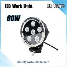 2015Hot sale mini flood/ spot beam 7inch black/white Housing Color 60w led work light for trucks,SUV,JEEP,ATV