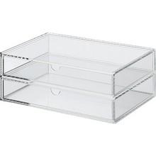 Three desktop drawer acrylic storage,clear acrylic makeup drawer/organizer