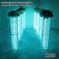 Caliente 2015 nuevo 40 pulgadas de oro/plata rectángulo de luz led de cristal pilar de la boda de la boda para la decoración de la decoración del partido( mws- 013)
