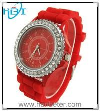 2015 High quality hot sale fashion colorful geneva diamond couple lover wrist watch