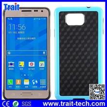 Dual Color 3D Cube Pattern PC+TPU Hybrid Case for Samsung Galaxy Alpha SM-G850F SM-G850A, for Samsung Galaxy Alpha Case