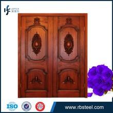 wholesale Antique Imitation Style solid teak wood double doors