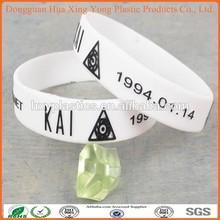 High quality wrist band US stylish Zumba Silicone bracelet with debossed logo