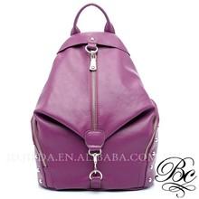 women gender studded leather beauty purple backpack