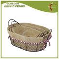 aliexpress projeto popular para casa decoração qualidade superior utilitário oval baratos cestas de arame para venda