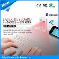 Bribase supplier White/Black mini bluetooth laser keyboard bluetooth wireless keyboard with mouse&bluetooth speaker