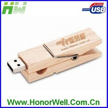 Wood Clothes Clip USB Promotional Gift