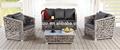 Sofá para exterior mejor vendido de arpillera, con marco de aluminio, muebles de jardin