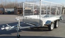 heavy duty dual sigle wheel HDG 4 wheel farm trailer