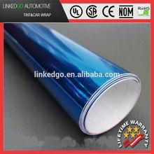 High quality car wrap 3m blue chrome vinyl air bubble free car wrapping