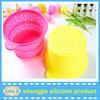 Kitchen partner silicone colander food grade fruit bowl