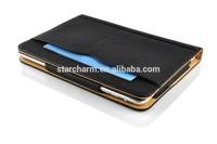 luxury design good quality premium tan leather case for ipad air