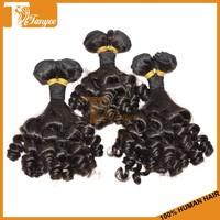 Grade 7A Romance Curl Human Hair Extension Color#1B Brazilian Tight Curly Hair