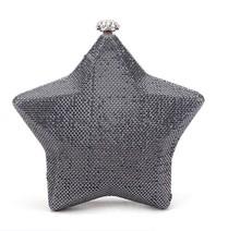 Top selling swarovski crystal clutch bag cute just star shape bag for girls